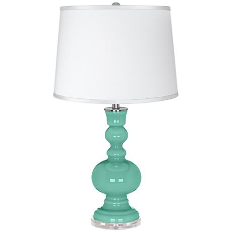 Larchmere - Satin Silver White Shade Apothecary Table Lamp