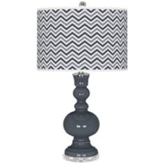 Turbulence Narrow Zig Zag Apothecary Table Lamp