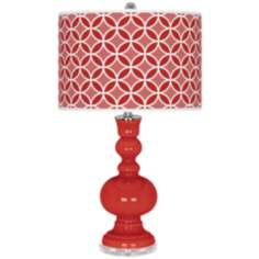 Cherry Tomato Circle Rings Apothecary Table Lamp