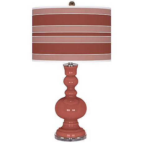 Brick Paver Bold Stripe Apothecary Table Lamp