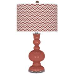 Brick Paver Narrow Zig Zag Apothecary Table Lamp