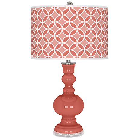 Coral Reef Circle Rings Apothecary Table Lamp