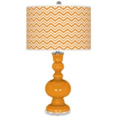 Carnival Narrow Zig Zag Apothecary Table Lamp