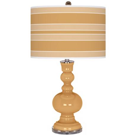Harvest Gold Bold Stripe Apothecary Table Lamp