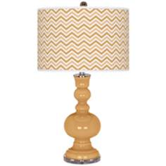 Harvest Gold Narrow Zig Zag Apothecary Table Lamp