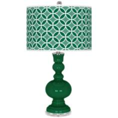 Greens Circle Rings Apothecary Table Lamp
