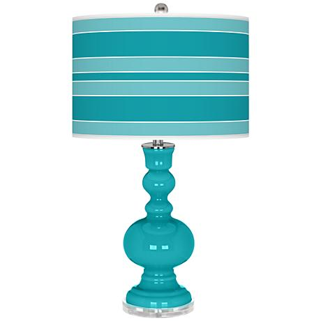 Surfer Blue Bold Stripe Apothecary Table Lamp
