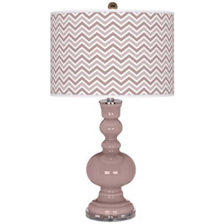 Dressy Rose Narrow Zig Zag Apothecary Table Lamp