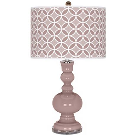 Dressy Rose Circle Rings Apothecary Table Lamp