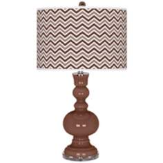 Rugged Brown Narrow Zig Zag Apothecary Table Lamp