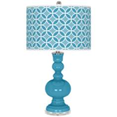 Jamaica Bay Circle Rings Apothecary Table Lamp