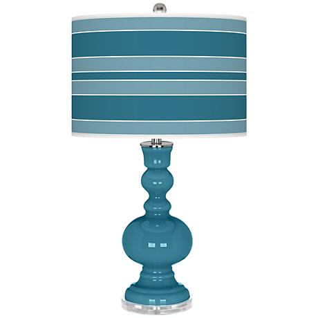 Great Falls Bold Stripe Apothecary Table Lamp