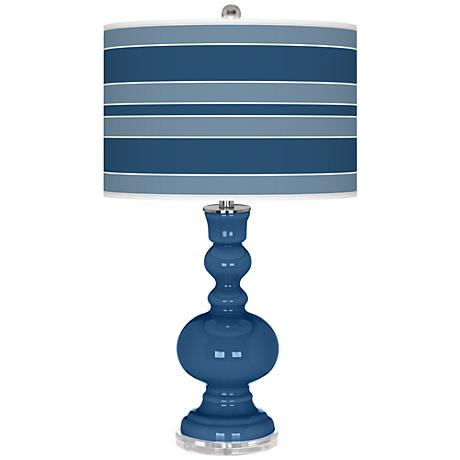 Regatta Blue Bold Stripe Apothecary Table Lamp