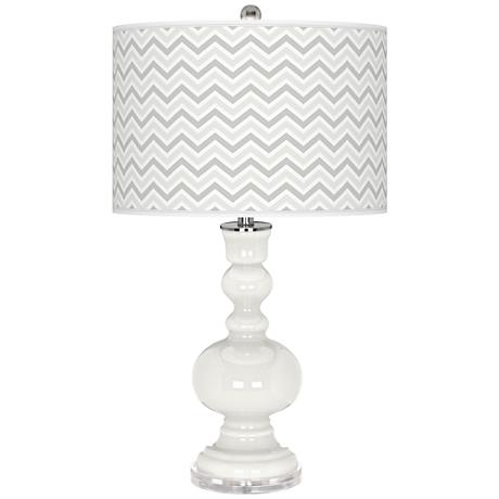 Winter White Narrow Zig Zag Apothecary Table Lamp