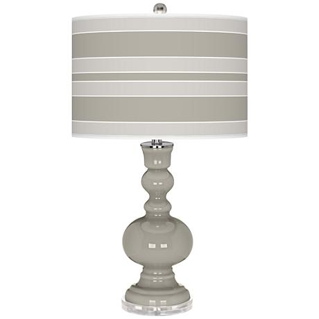 Requisite Gray Bold Stripe Apothecary Table Lamp