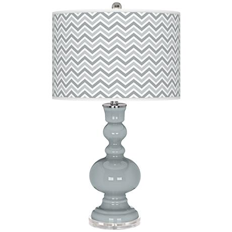 Uncertain Gray Narrow Zig Zag Apothecary Table Lamp