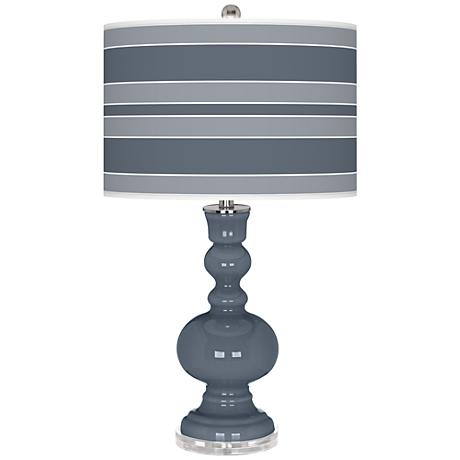 Granite Peak Bold Stripe Apothecary Table Lamp