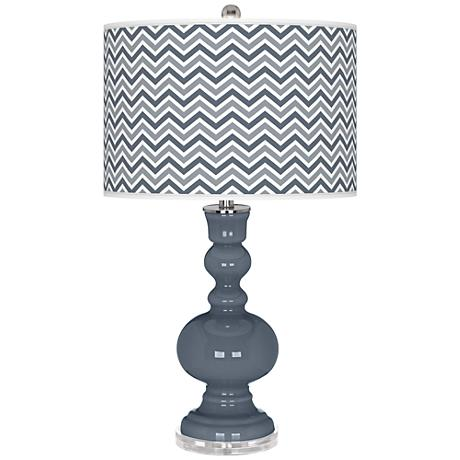 Granite Peak Narrow Zig Zag Apothecary Table Lamp