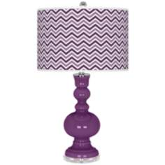 Kimono Violet Narrow Zig Zag Apothecary Table Lamp