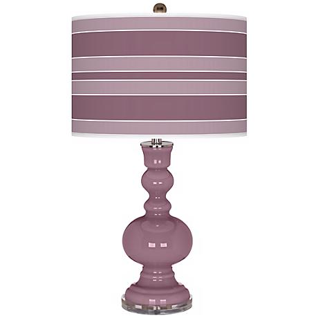 Plum Dandy Bold Stripe Apothecary Table Lamp