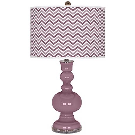 Plum Dandy Narrow Zig Zag Apothecary Table Lamp