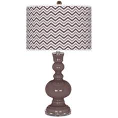 Deepest Mauve Narrow Zig Zag Apothecary Table Lamp