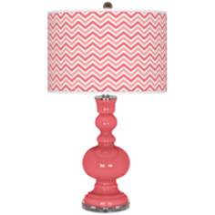Rose Narrow Zig Zag Apothecary Table Lamp