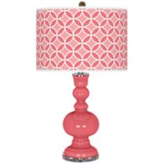 Rose Circle Rings Apothecary Table Lamp