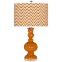 Cinnamon Spice Narrow Zig Zag Apothecary Table Lamp