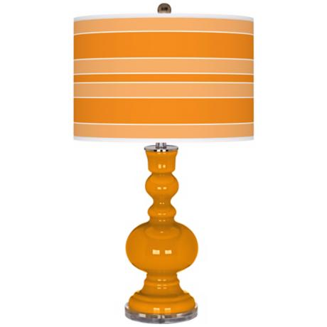 Mango Bold Stripe Apothecary Table Lamp