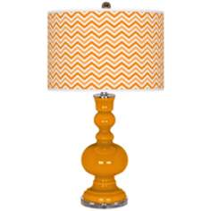 Mango Narrow Zig Zag Apothecary Table Lamp