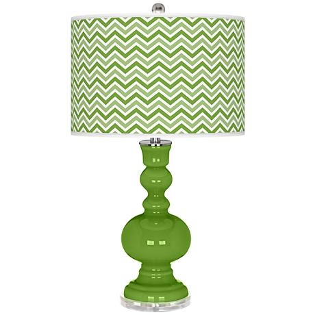 Rosemary Green Narrow Zig Zag Apothecary Table Lamp