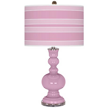 Pink Pansy Bold Stripe Apothecary Table Lamp
