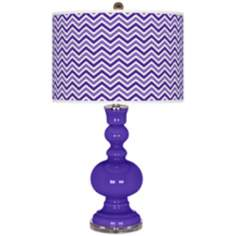 Violet Narrow Zig Zag Apothecary Table Lamp
