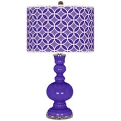 Violet Circle Rings Apothecary Table Lamp