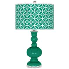 Emerald Circle Rings Apothecary Table Lamp