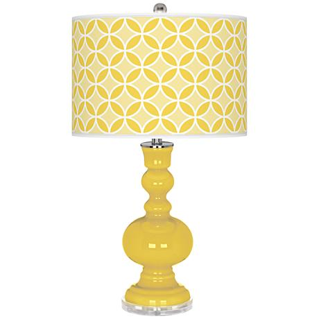 Lemon Zest Circle Rings Apothecary Table Lamp