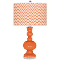 Nectarine Narrow Zig Zag Apothecary Table Lamp