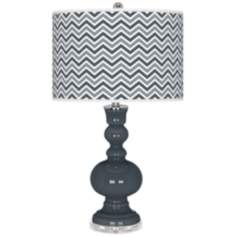Outer Space Narrow Zig Zag Apothecary Table Lamp