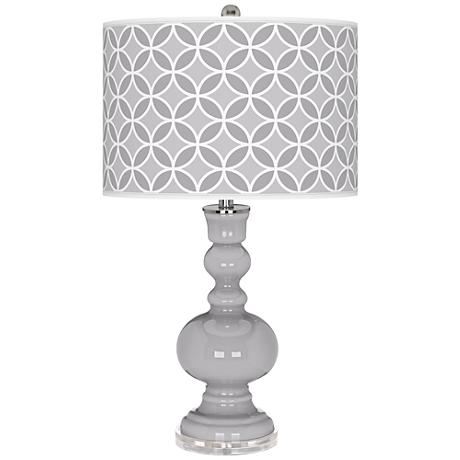 Swanky Gray Circle Rings Apothecary Table Lamp