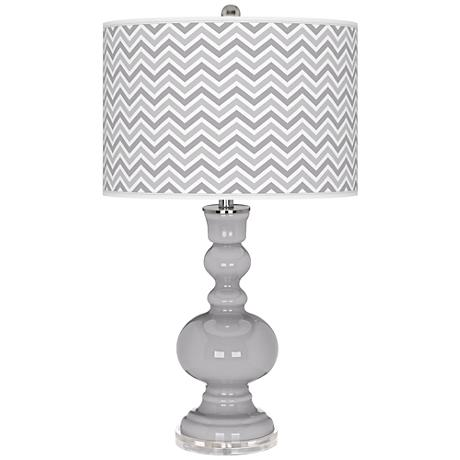 Swanky Gray Narrow Zig Zag Apothecary Table Lamp