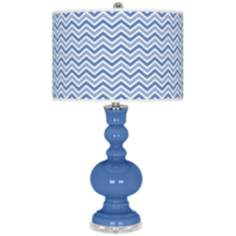 Dazzle Narrow Zig Zag Apothecary Table Lamp