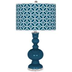 Oceanside Circle Rings Apothecary Table Lamp