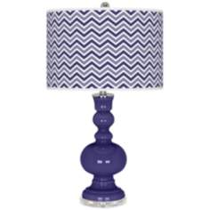 Valiant Violet Narrow Zig Zag Apothecary Table Lamp