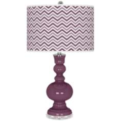 Grape Harvest Narrow Zig Zag Apothecary Table Lamp