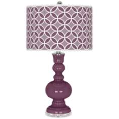 Grape Harvest Circle Rings Apothecary Table Lamp