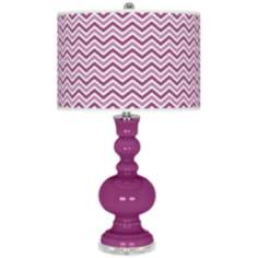 Verve Violet Narrow Zig Zag Apothecary Table Lamp