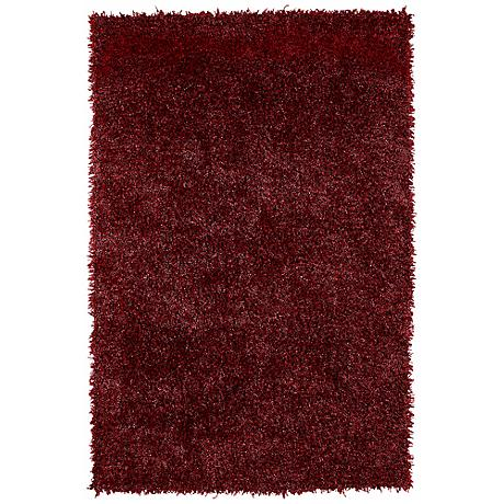 Belize BZ100 Red 109 Shag Area Rug