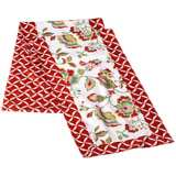 Reversible Floral/Geometric Pattern Queen Bed Runner