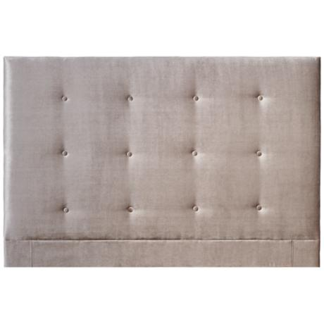 Caitlyn Khaki Button-Tufted Upholstered Headboard